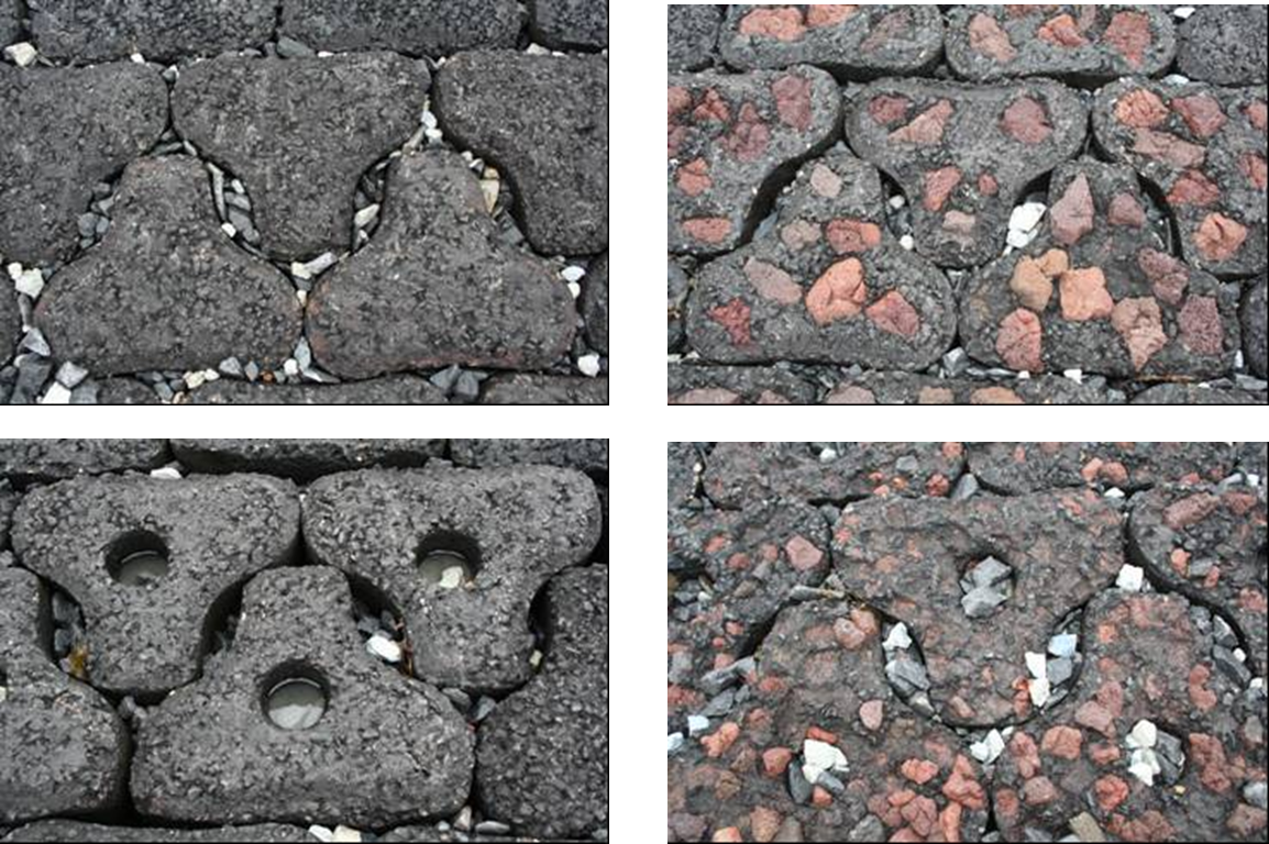 Different types of ecological revetment stones